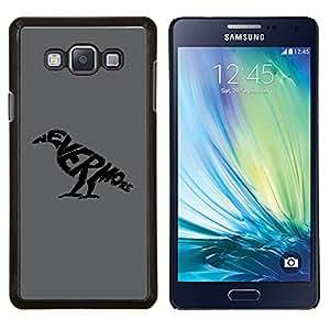 "For Samsung Galaxy A7 ( A7000 ) , S-type Nunca más cuervo"" - Arte & diseño plástico duro Fundas Cover Cubre Hard Case Cover"