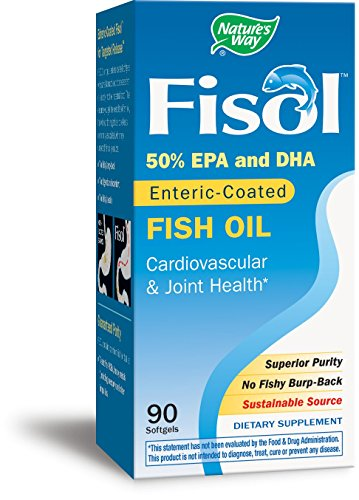 Fisol Enteric Fish Coated Oil (Nature's Way Fisol Fish Oil, 90 Softgels)
