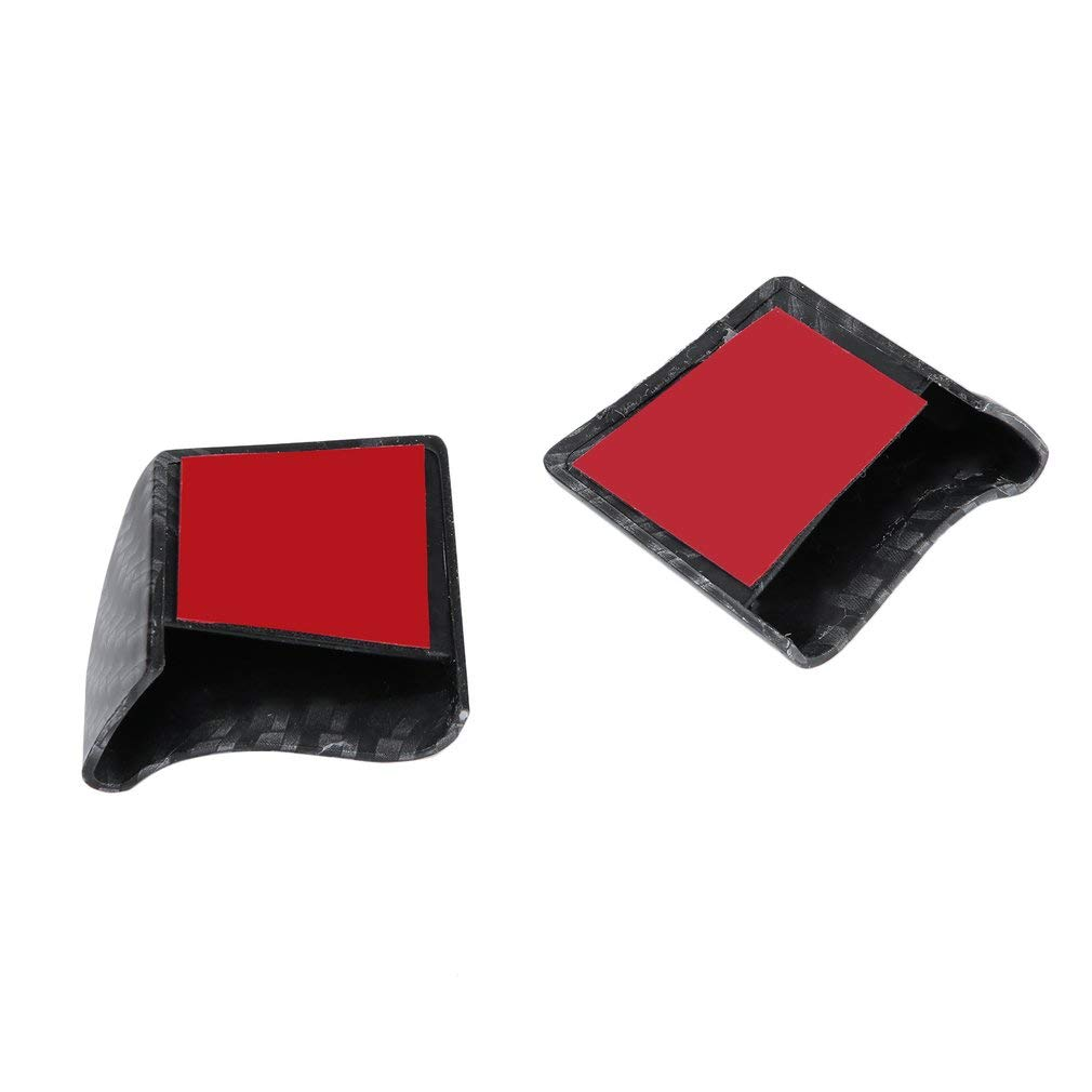 Blackpoolal Car Rear Spoiler Lip,Universal 4.9ft Car Carbon Fiber Rear Spoiler Trim Sticker For Car,Black 150CM x 4CM