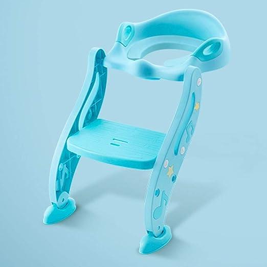 ZA Asiento de entrenamiento con orinal y escalón for taburete, inodoro con orinal de entrenamiento for niños, niñas y niños pequeños - Asiento con orinal y escalera de almohadillas antideslizantes, al: Amazon.es: