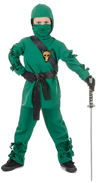 Amazon.com: Boys Ninja Verde Kids Niño Fancy Dress Party ...