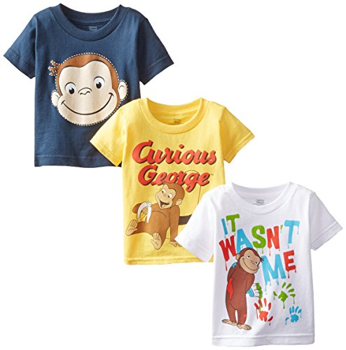 - Curious George Little Boys' Toddler Boys T-Shirt 3-Pack, Assorted, 2T