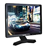 15 Inch LCD Monitor HDMI VGA Monitor, 1024x768 Resolution 1080P HD Monitor Color Screen with VGA/AV/HDMI/BNC/USB Earphone Output, Built-in Dual Speakers