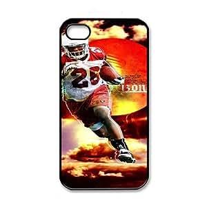 iPhone 4 4s Black Cell Phone Case Arizona Cardinals NFL Custom Clear Phone Case NLYSJHA2750