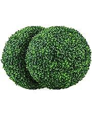 Fransande Kunstbuxusballen, 39,7 cm, 2 stuks