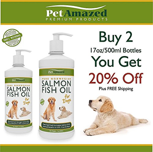 Petamazed omega 3 salmon fish oil supplement for dogs for Dog food with fish oil