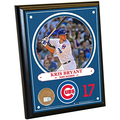 Chicago Cubs Kris Bryant 8 Inches By 10 Inches Plaque With Authentic Game Used Dirt From Wrigley Field