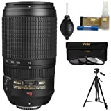 Nikon 70-300mm f/4.5-5.6G AF-S VR Zoom Lens with Tripod + 3 UV/ND8/CPL Filters + Kit for D3200, D3300, D5300, D5500, D7100, D7200, D750, D810 Cameras