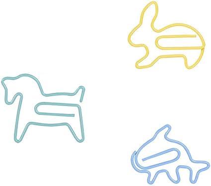36 pezzi clip di carta forme animali ufficio divertenti accessori da scrivania segnalibri