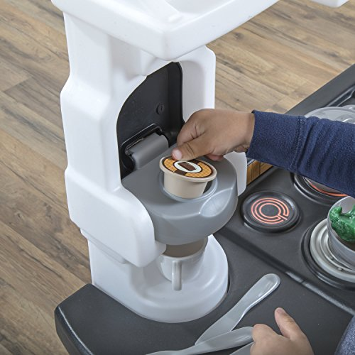 5105t6wcfbL - Step2 899399 Espresso Bar Play Kitchen for Kids, Tan