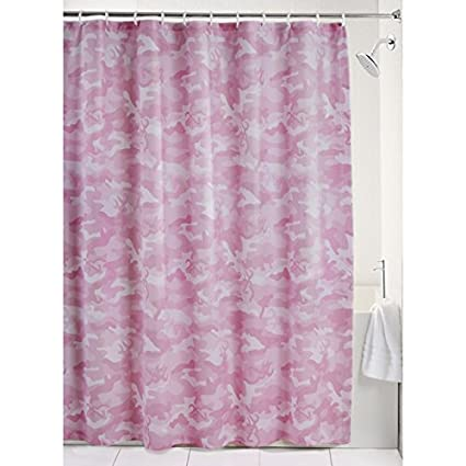 Black Forest Decor Buckmark Camo Pink Shower Curtain