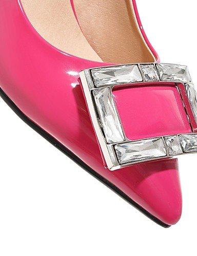 GGX/ Damenschuhe-High Heels-Outddor / Büro / Lässig-Kunststoff-Stöckelabsatz-Absätze-Schwarz / Rosa / Rot / Weiß / Silber / Gold / Pfirsich red-us9.5-10 / eu41 / uk7.5-8 / cn42