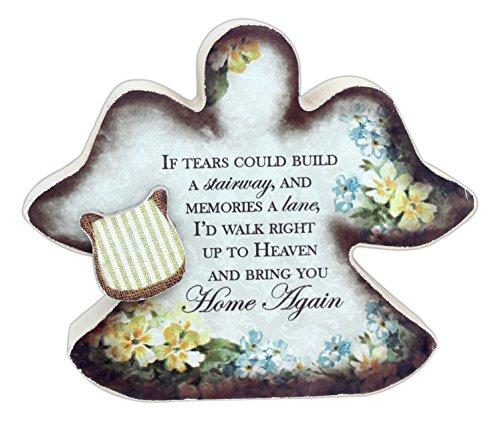 Beauty Angel Plaque (Carson Miniature Sentimental Message Wood Block Cutout Sign)