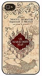 Super Hogwarts Harry Potter Vintage Marauders Map - Hard Cover Case for iPhone 5S case