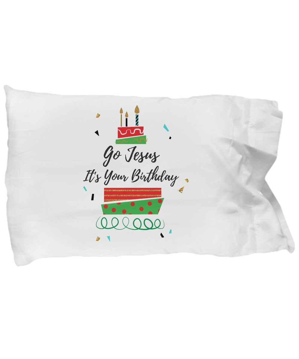 Pillow Covers Design Go Jesus It's Your Birthday Christmas Christian Gift Pillow Cover Ideas