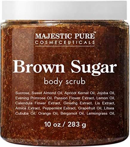 Body Washes & Gels: Majestic Pure Brown Sugar Body Scrub