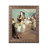 Dance Examination 1873-74 Artwork by Edgar Degas, 16 by 20-Inch, Gold Ornate Frame