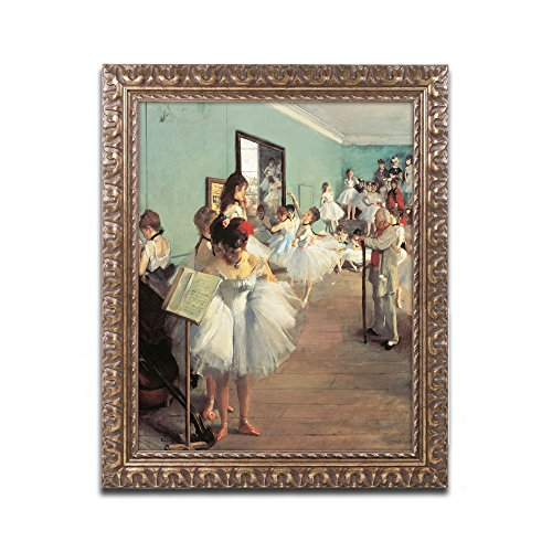 Dance Examination 1873-74 Artwork by Edgar Degas, 16 by 20-Inch, Gold Ornate Frame by Trademark Fine Art