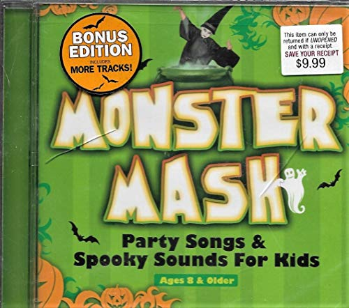 Kids Halloween Songs Cd (Monster Mash: Party Songs & Spooky Sounds for Kids (Bonus Edition) Ages 8 &)