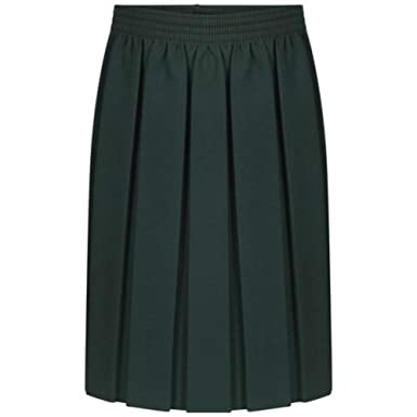 d3632db1b Girls Kids School Uniform Box Pleated Elasticated Waist Skirt Age 2-18  Years[Bottle