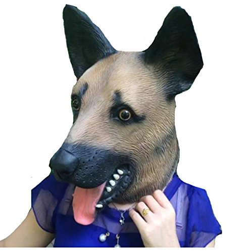 Halloween Latex Animal Head Funny Dog Mask Cosplay Party Novelty Costume