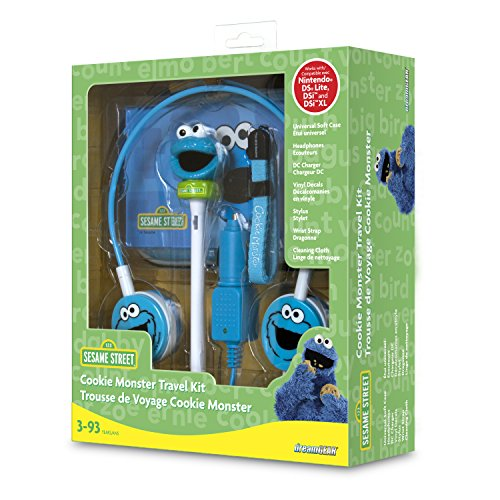 dreamGEAR Sesame Street 7-in-1 Travel Kit for Nintendo DSi XL, DSi and DS Lite (Cookie Monster)