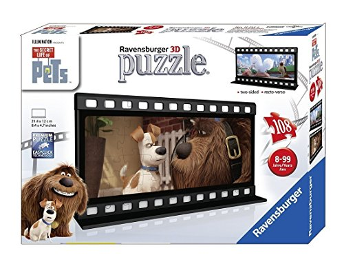 Ravensburger The Secret Life of Pets Filmstrip 1 Two Sided Puzzle 108 Piece Jigsaw Puzzle for Kids – Every Piece is Unique, Pieces Fit Together ()