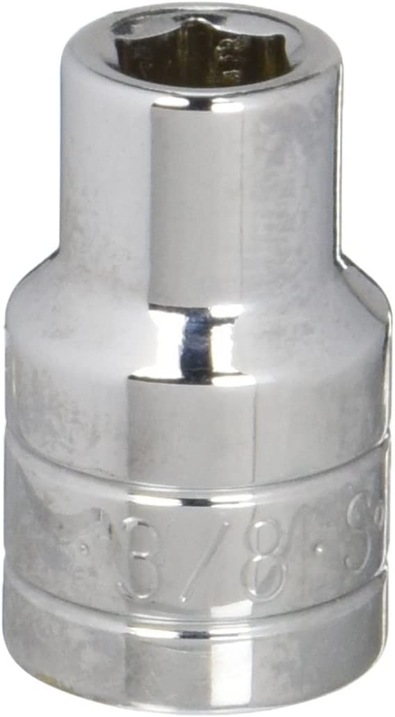 SK Hand Tool 40112 6 Point 3//8-Inch Standard Drive Socket Chrome 1//2-Inch