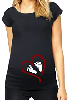 9004c8d43f6 HappyBerry Women Maternity T Shirt Funny Graphic Tee Cute Tops for Pregnancy