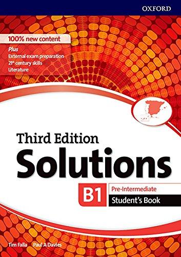 5105vSphfTL Solutions pre intermediate student's book third edition 2017 b1 b2 editado por Oxford