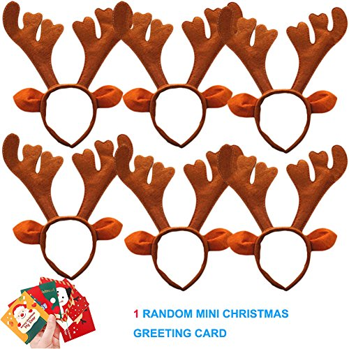 Sept.Filles 6-Pack Christmas Headband Antler Santa Claus Snowman Decoration (Santa Claus Head)