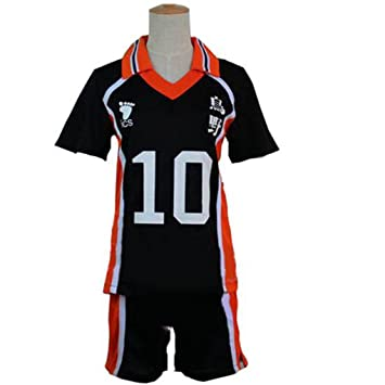 a189b15c6 Buy HOLRAN Haikyuu Costume Uniform Hinata No10 Jersey Online at Low Prices  in India - Amazon.in