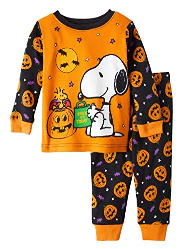 Peanuts Snoopy and Woodstock Trick or Treat Halloween 2 Piece Baby Boys Pajama Set (12 Months)