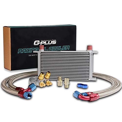 Oil Cooler Kit Racing - GPLUS New For CAR/TRUCK 10AN 19 ROW Thermostat Adaptor Engine Racing Oil Cooler Kit