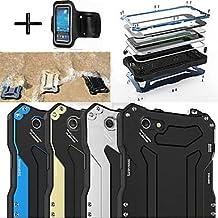R-JUST Gundam 100% Waterproof Metal Aluminum Gorilla Glass Case +Sports armband for iPhone6 Plus ( Color : Light Blue )