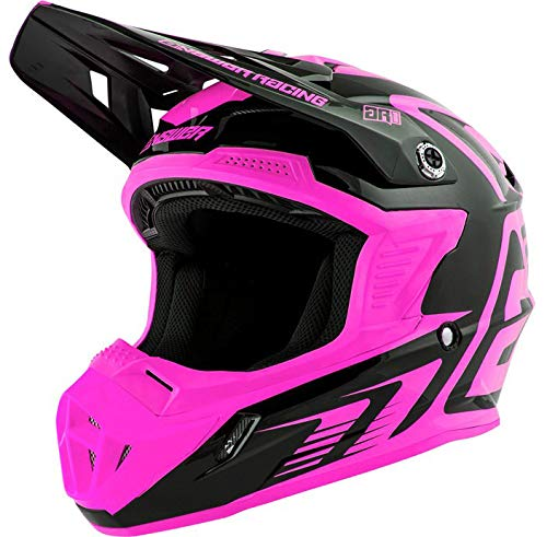 Answer Racing AR-1 Edge Adult Off-Road Motorcycle Helmet - Fluorescent Pink/Black/Small