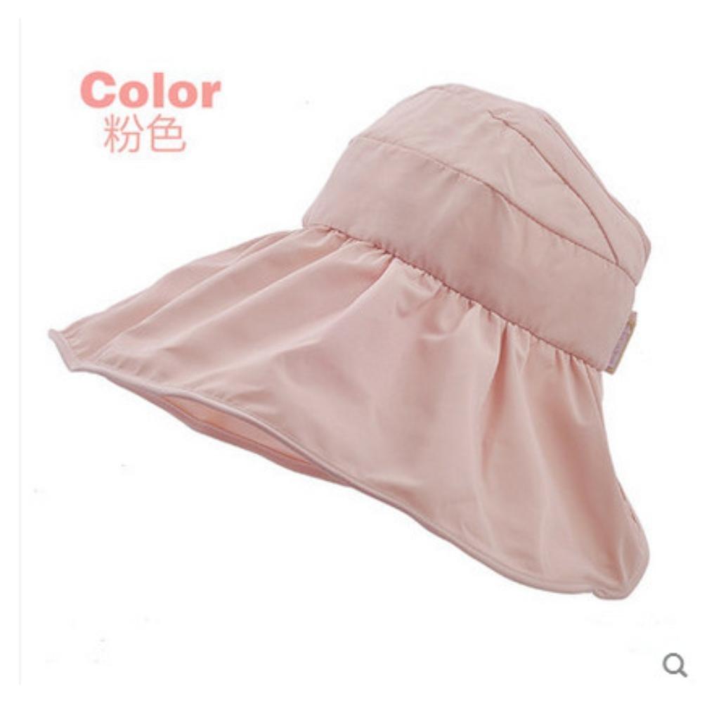 cdd4c52f6ef Summer Korean Style Topless Foldable UV Women Sun Beach Hats Anti Sun UV  Color Pink Apparel