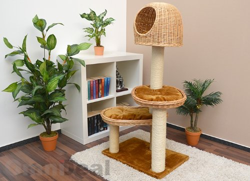 Wicker Cat Tower Tree Scratching Post