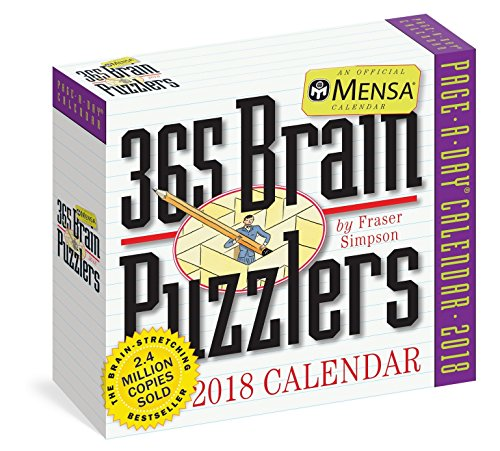 Mensa Brain Puzzlers Page-A-Day Calendar 2018 [6.25 x 6.25]