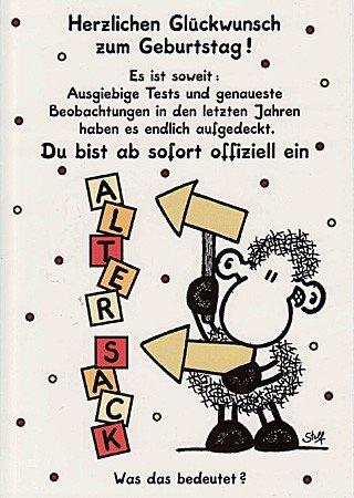 Sheepworld Geburtstagskarte Alter Sack Amazon De Burobedarf