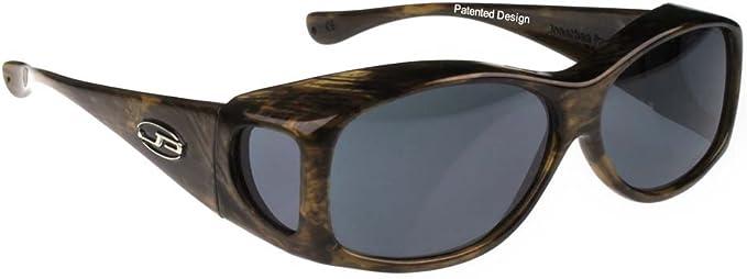 JONATHAN PAUL® FITOVERS EYEWEAR  Glides Brushed Horn Polarized Gray Sunglasses
