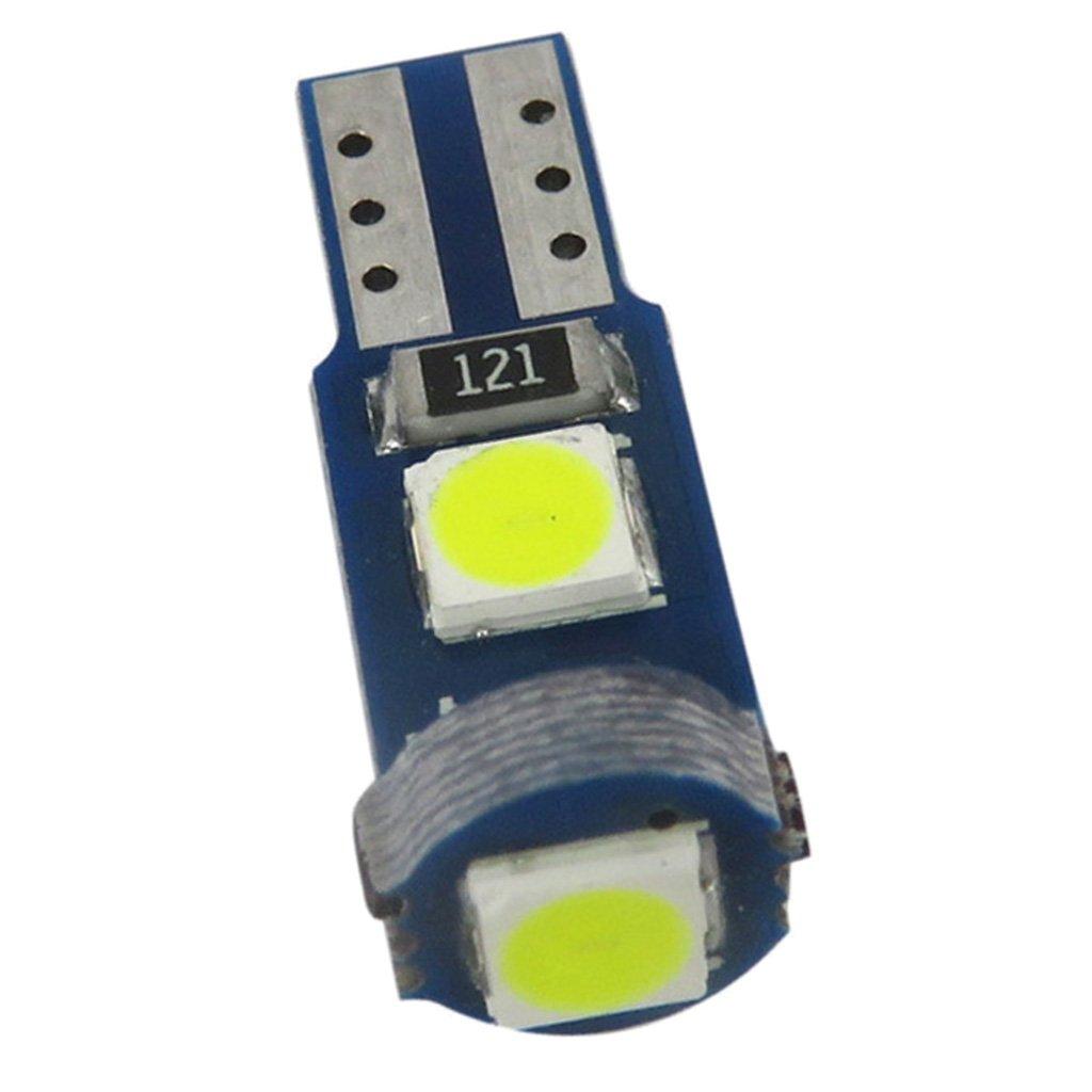Viola 10 Pcs Lampadina LED T5 3030 Luce Pannello Instrumento Universale Auto