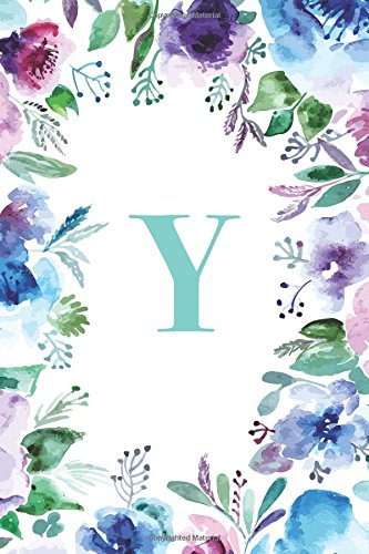 Y (Gifts for Women, Teenagers, Girls, Moms, Students & Teachers or Portable Blank Lined Monogram Initial Journal Notebook for Composition, Sketching. Relief, Mindfulness, Antistress and Notes)