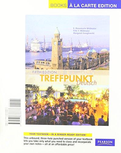 Treffpunkt Deutsch: Grundstufe, Books a la Carte Edition (5th Edition)