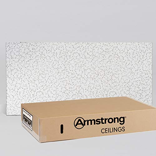 Armstrong Ceiling Tiles; 2x4 Ceiling Tiles - Acoustic Ceilings for Suspended Ceiling Grid; Drop Ceiling Tiles Direct from the Manufacturer; CORTEGA Item 769 - 12 pcs White Lay-in
