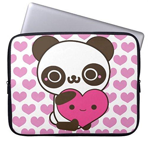 Panda Hearts Laptop Sleeves Laptop Sleeve 12 Inch,Notebook/M