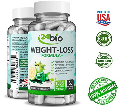 Best Garcinia Cambogia Extract, Diet Fat Burning Pills That Work with Green Coffee Extract Natural Appetite Suppressant, Metabolism Booster, Weight Loss Supplement for Women, L-carnitine 5-HTP by 24bio