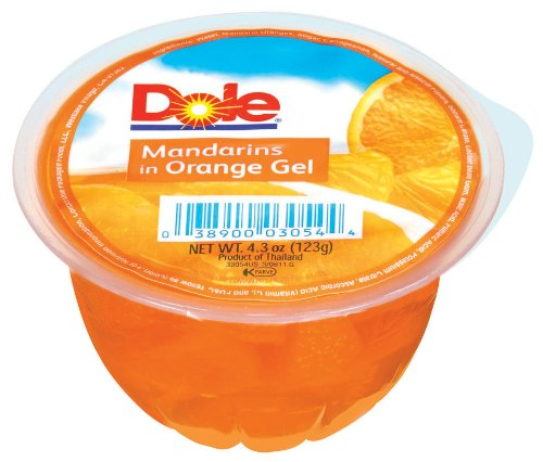 Dole Mandarin in Orange Gel, 4.3-Ounce Packages (Pack of ()