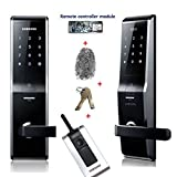 Fingerprint SAMSUNG SHS-5230 (SHS-H700) digital door lock keyless touchpad security EZON + 2pcs of Emergency keys +Remote controller + Remote module Free EXP Ship