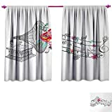 Best Div X Players - Music Customized Curtains Vintage Gramophone Record Player Floral Review